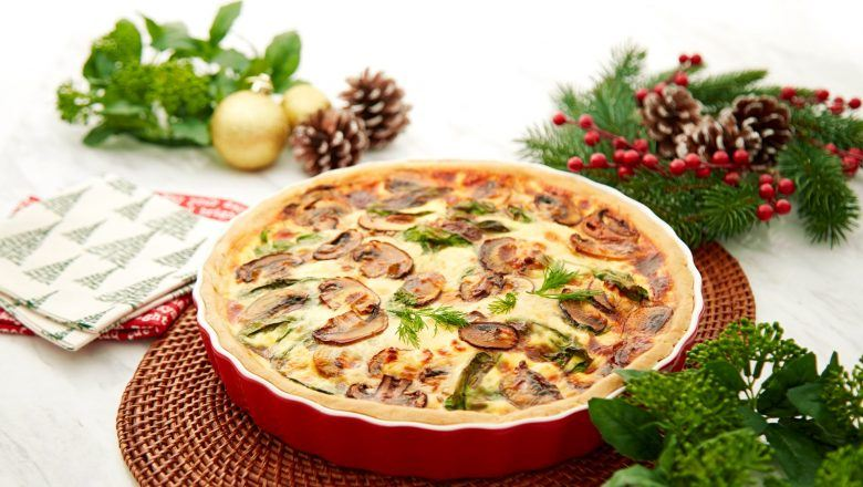 Knorr Spinach and Mushroom Quiche