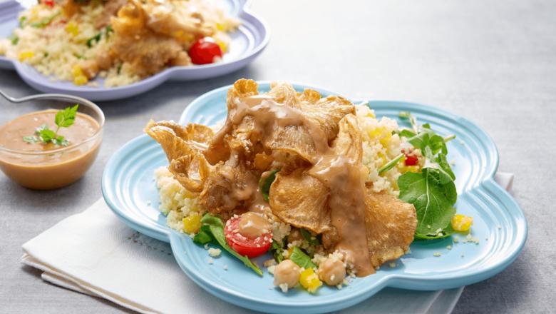 Crispy Mushtoom Couscous Salad