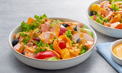 Salmon Peach Salad