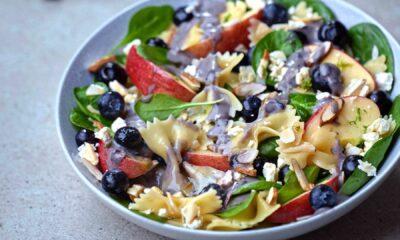 Blueberry Spinach Pasta Salad